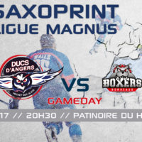 //GAME DAY// J-33 SAXOPRINT Ligue Magnus // 13.01.17