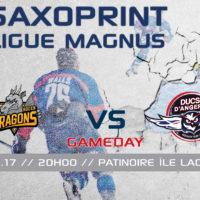 //GAME DAY// J-34 SAXOPRINT Ligue Magnus // 17.01.17