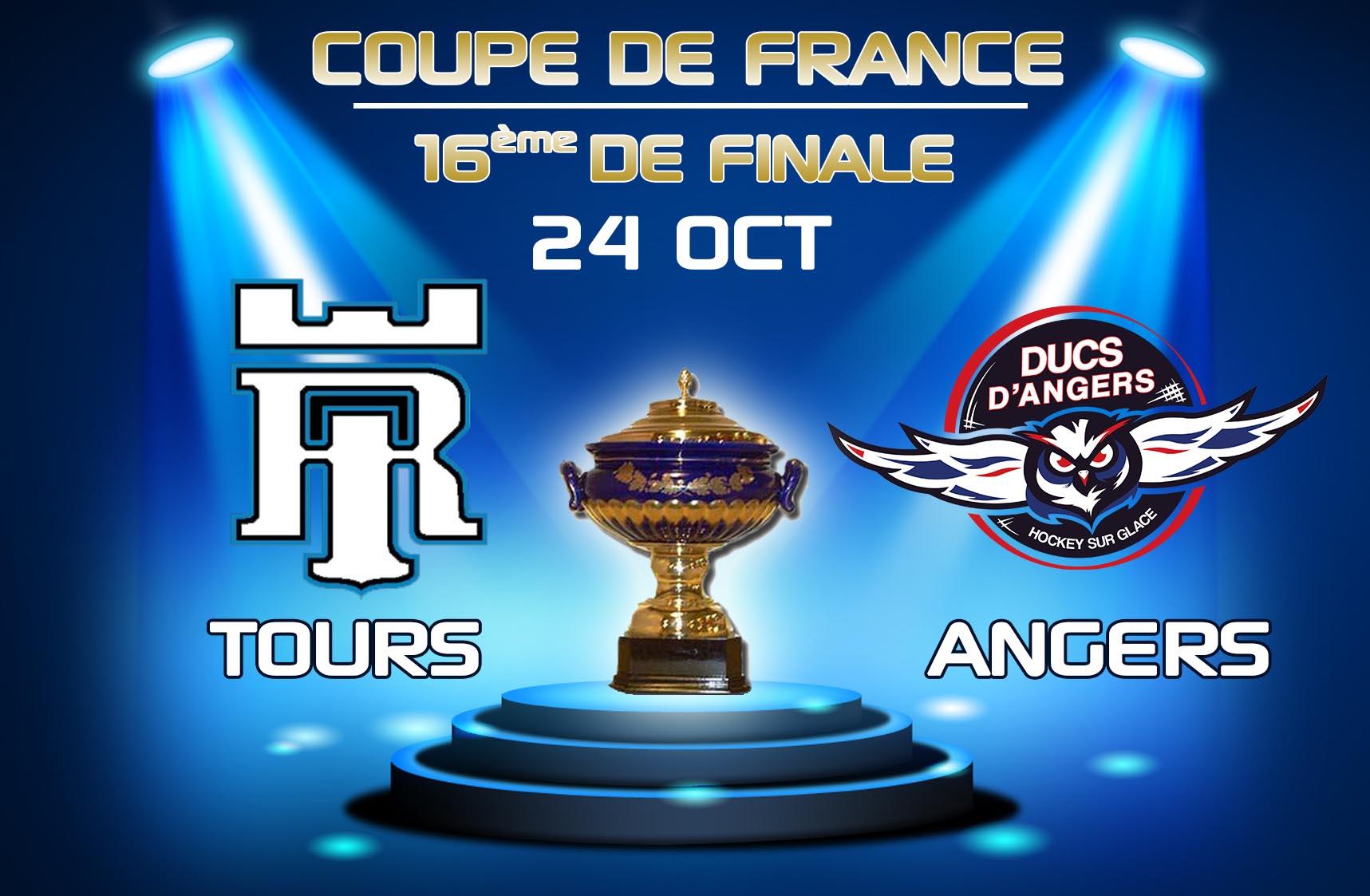 Coupe de France : A Tours pour les 16ème de finale !