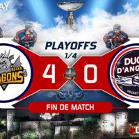 PLAYOFFS [1/4 – match 1] : Défaits 0-4, les Ducs veulent leur revanche !