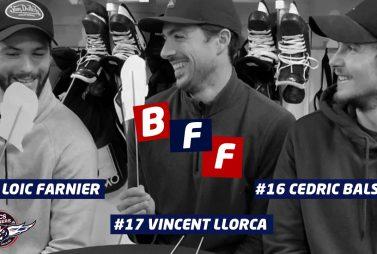 3 joueurs des ducs d'angers (Loic Farnier, Cédric Di Dit Balsamo, Vincent Llorca)
